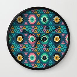 Happy ethnic shapes Wall Clock