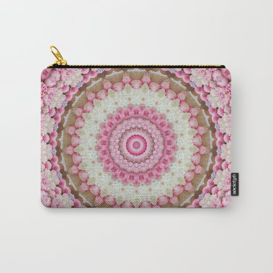 Pink Floral Mandala Carry-All Pouch