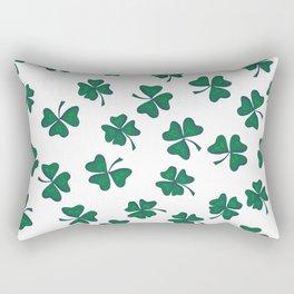 Retro Vintage St Patricks Day Green Shamrock Clover Rectangular Pillow