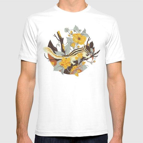 Chipmunk & Morning Glory T-shirt
