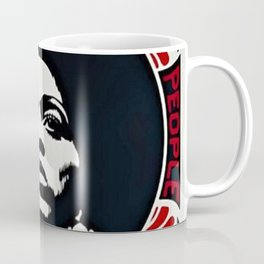 Angela Davis - Power & Equality - Power to the People - Red - African American Vintage Poster Coffee Mug