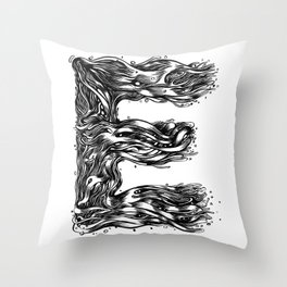 The Illustrated E Throw Pillow