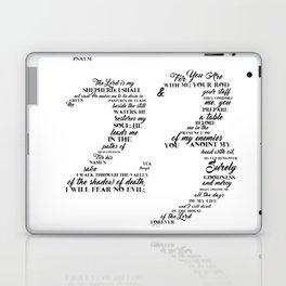 Psalm 23 Typography Laptop & iPad Skin