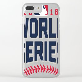 CLEVELAND INDIANS WORLD SERIES 2016 Clear iPhone Case