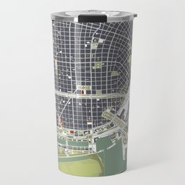 Buenos aires city map engraving Travel Mug