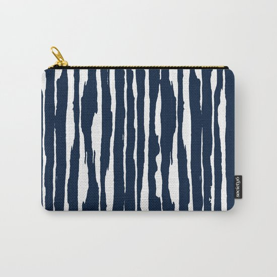 Blue- White- Stripe - Stripes - Marine - Maritime - Navy - Sea - Beach - Summer - Sailor 5 Carry-All Pouch