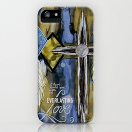Inspirational quote with cross iPhone Case