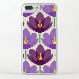 Crocus Flower Clear iPhone Case