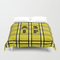 clueless Duvet Covers featuring AS IF by Ricki Lynn