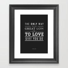 Type Poster - Steve Jobs Framed Art Print