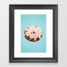 Sprinkle Donut Framed Art Print
