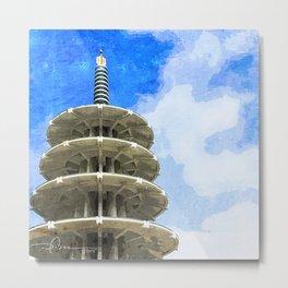 日本タウン、サンフランシスコ - Japantown Tower Metal Print