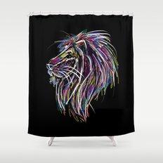 Neon Glow Lion (He)art Shower Curtain