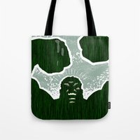 hulk Tote Bags featuring Hulk by Duke Dastardly