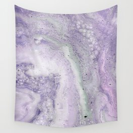 purple and white Wall Tapestry
