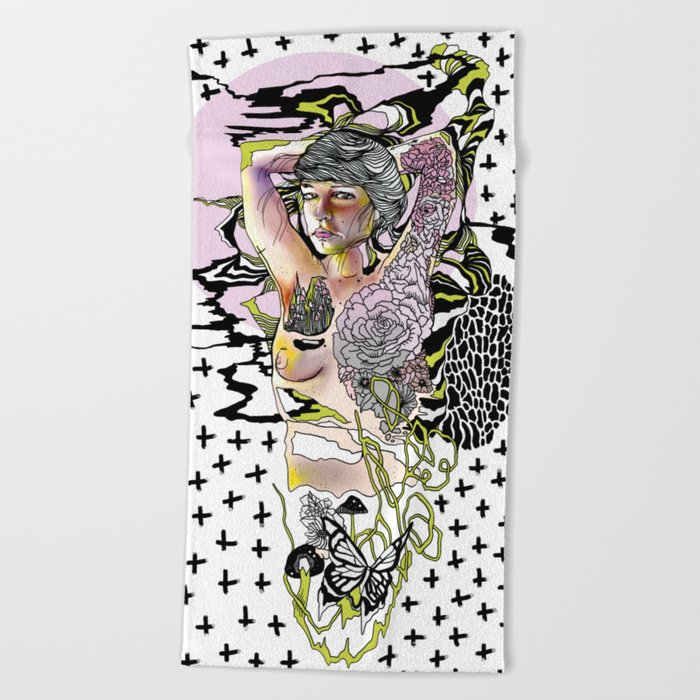 Sweetly Lavender Beach Towel
