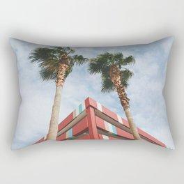 Las Vegas Palm Trees and Vintage Design Rectangular Pillow
