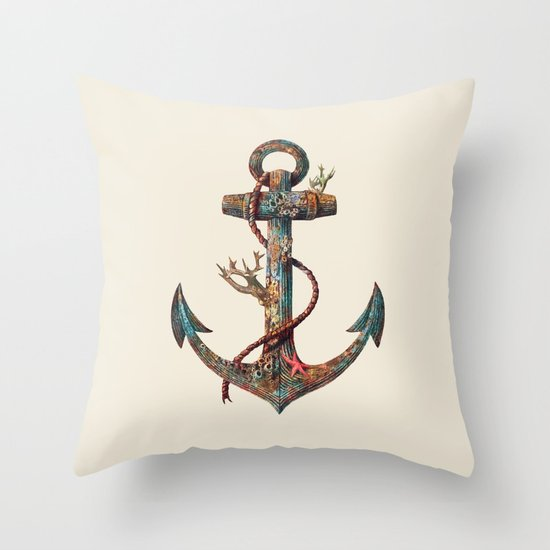 Lost at Sea - colour option Throw Pillow