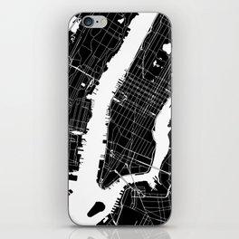 New York City Black On White iPhone Skin