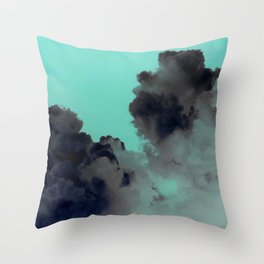 Stormy Skies - Green skies Throw Pillow
