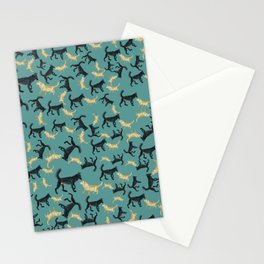 Romeo the wolf & Juliet Pattern Stationery Cards