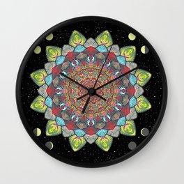 SUN MOON MANDALA Wall Clock