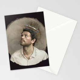 Castiel. White crown. Stationery Cards