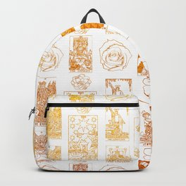 Beautiful Golden Tarot Card Print Backpack