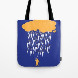 raining umbrellas Tote Bag