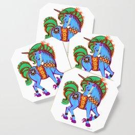 Blue Data Unicorn Magical horse Coaster