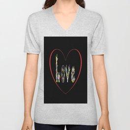 ASL Heart Full of Love Unisex V-Neck