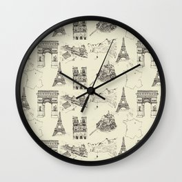 France vintage Wall Clock