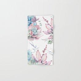 Pretty Pastel Succulents Garden 1 Hand & Bath Towel