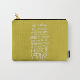 Jeremiah 29: 11 x Mustard Carry-All Pouch