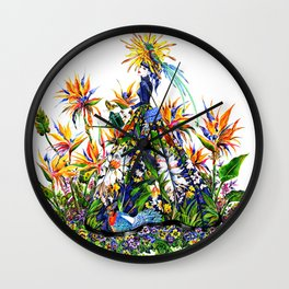 Stepping into the Garden Wall Clock