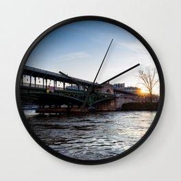 Sunrise over Bir-Hakeim bridge in winter - Paris Wall Clock
