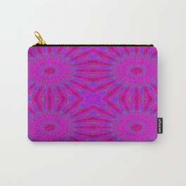 Pinwheel Flowers Fuchsia Pink Purple Violet Carry-All Pouch