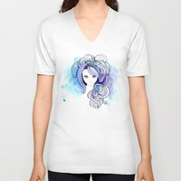 waterfall V-neck T-shirts featuring Waterfall by Sherry Yuan