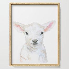 Lamb Face Watercolor Serving Tray
