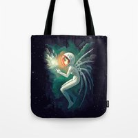 contact Tote Bags featuring Contact by Freeminds