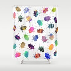 Pretty Bugs Pattern Shower Curtain
