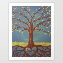 Fruits of the Spirit Tree Art Print