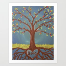 Fruits of the Spirit Tree Art Print