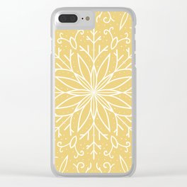 Single Snowflake - Yellow Clear iPhone Case