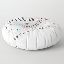 Coffee Periodic Table Chart Floor Pillow