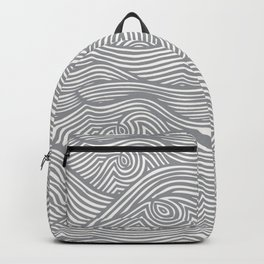 Waves in Charcoal Backpack