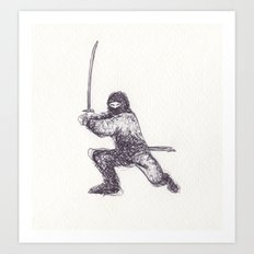 Ninja Quick Sketch Art Print
