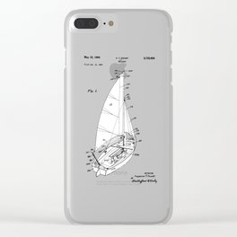 patent art Court Sailboat 1964 Clear iPhone Case