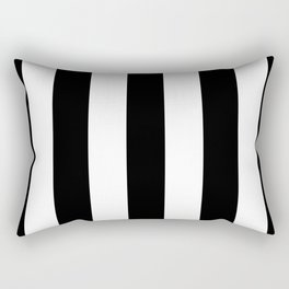 Big Lines Black and White Rectangular Pillow