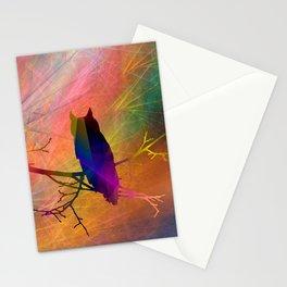 ap071 Bird on branch Stationery Cards